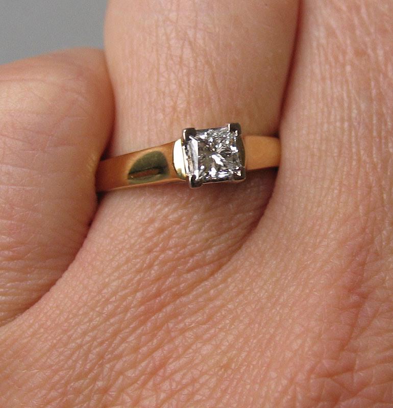 bague de fiançailles solitaire diamant bague de fiancaille bague ...