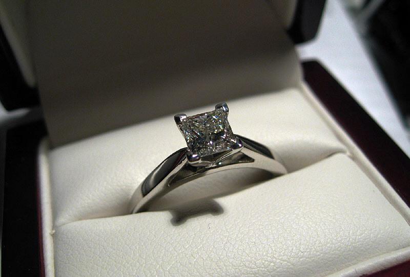 de fiançailles dans son écrin solitaire diamant bague de fiancaille ...
